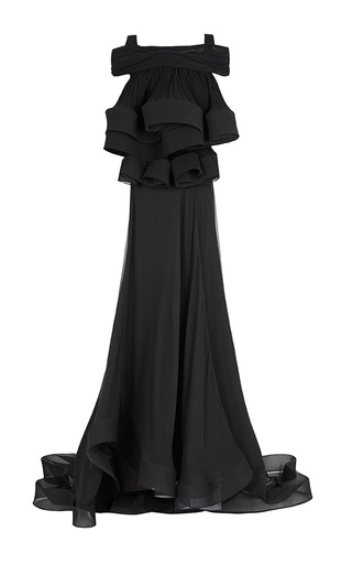 Medium maticevski black black spiracle gown