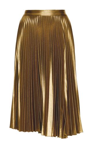 Medium a l c gold metallic pleated gates midi skirt