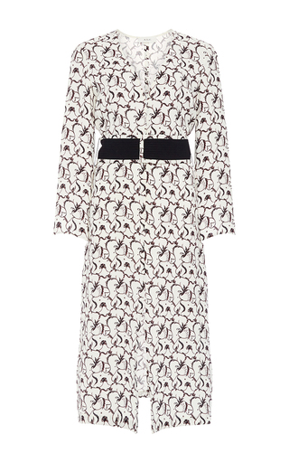 Paley Silk Printed Long Sleeved Dress  by A.L.C. Now Available on Moda Operandi