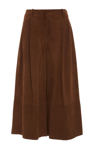 Tai Cropped Suede Culottes by JOSEPH Now Available on Moda Operandi