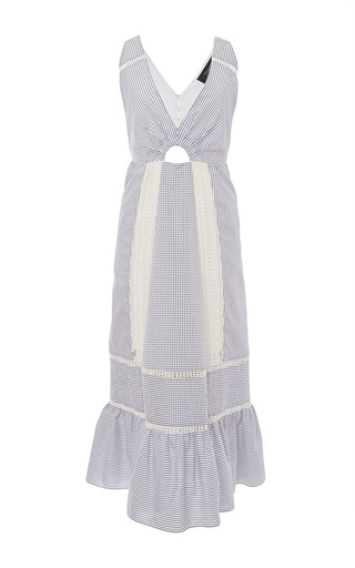 Cotton Crochet Inset Dress by THAKOON Now Available on Moda Operandi