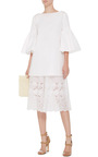White Cotton Bell Sleeved Tunic by SUNO Now Available on Moda Operandi