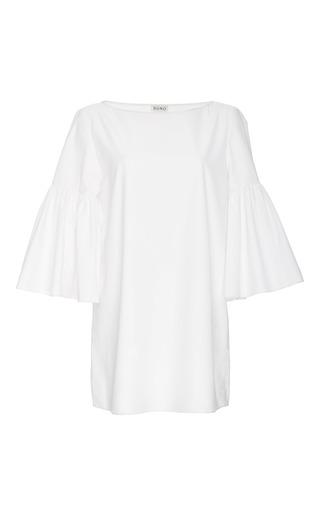 Medium suno white white cotton bell sleeved tunic