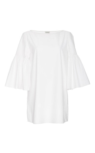 Medium suno white white cotton bell sleeved tunic