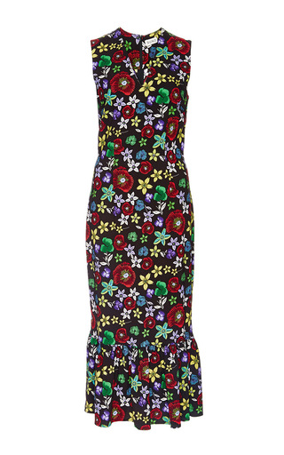 Silk Floral Printed Pencil Dress by SUNO Now Available on Moda Operandi