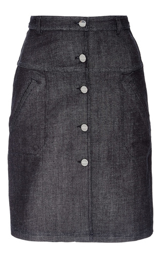Button Down Denim Skirt by CARVEN Now Available on Moda Operandi