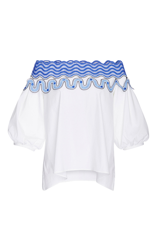 Cotton Pallas Off The Shoulder Blouse  by PETER PILOTTO Now Available on Moda Operandi