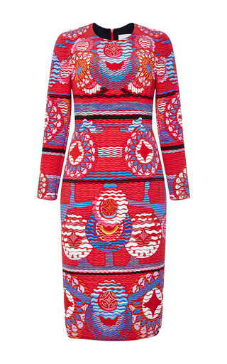 Long Sleeved Printed Start Dress by PETER PILOTTO Now Available on Moda Operandi