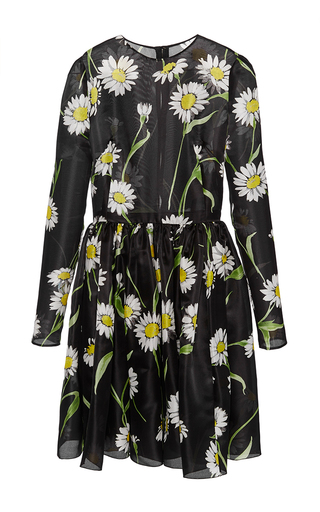 Silk Floral Printed Dress by DOLCE & GABBANA Now Available on Moda Operandi