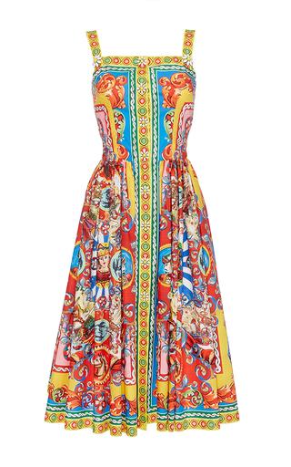Medium dolce gabbana print cotton multicolor printed sleeveless dress