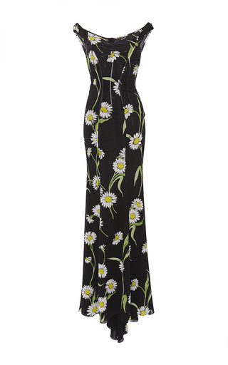 Medium dolce gabbana floral silk floral fitted sheath gown