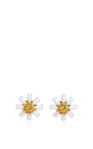 Medium dolce gabbana white crystal and glass edelweiss earrings