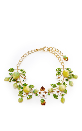 Medium dolce gabbana yellow crystal and glass lemon necklace