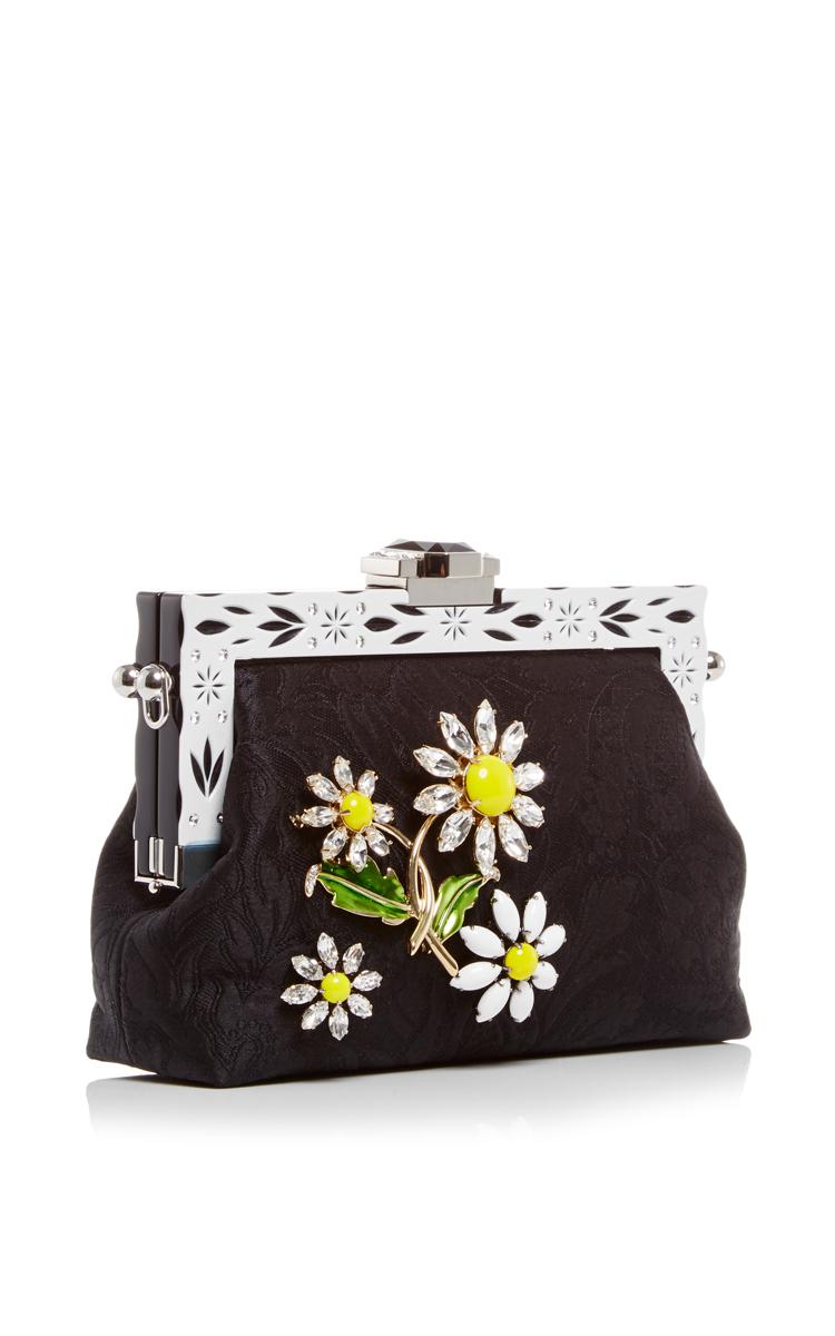 6051ae0e9b Dolce   GabbanaSilk Jacquard Evening Purse with Crystal Daisy  Embellishment. CLOSE. Loading. Loading