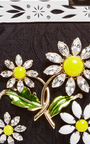 Silk Jacquard Evening Purse With Crystal Daisy Embellishment by DOLCE & GABBANA Now Available on Moda Operandi