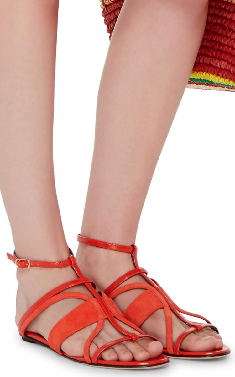Oscar de la Renta Patent Leather Sandals