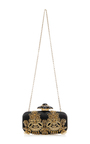 Goa Embellished Satin Clutch by OSCAR DE LA RENTA Now Available on Moda Operandi
