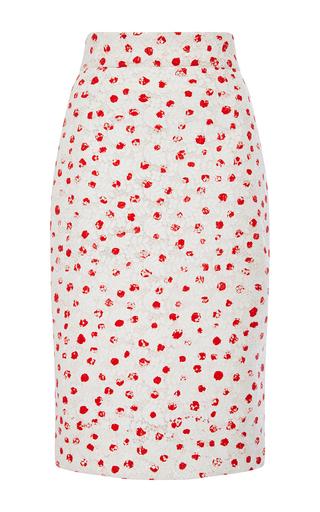 Mid Length Floral Pencil Skirt by OSCAR DE LA RENTA Now Available on Moda Operandi