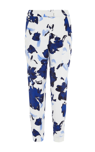 Medium oscar de la renta print high waisted floral printed pants