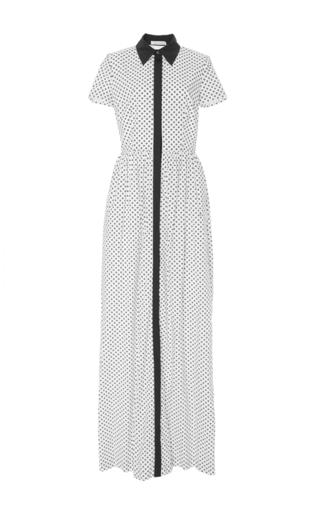 Polka Dot Shirt Dress  by OSCAR DE LA RENTA Now Available on Moda Operandi