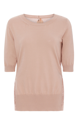 Angelina Cotton Silk Top With Ruffled Back Hem by NO. 21 Now Available on Moda Operandi