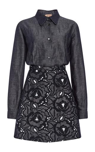 Denim Linen Alice Shirt Dress by NO. 21 Now Available on Moda Operandi