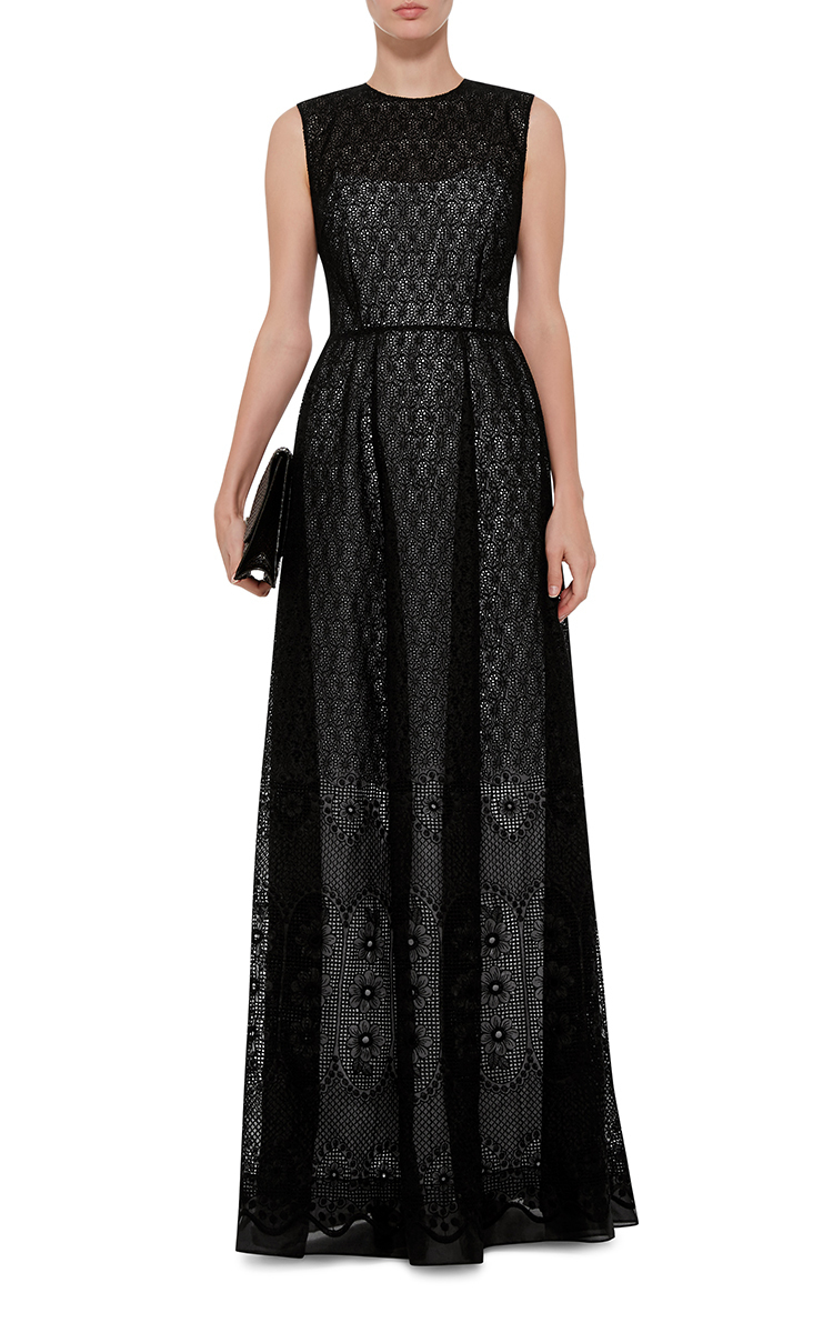 5df66666fc0 Antonia Maxi Printed Dress with Cutout Back by N°21