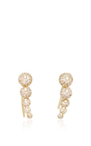 Medium fallon gold shalom graduated ball climber earrings