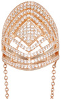 Rose Gold Pave Labyrinth Double Ring by FALLON Now Available on Moda Operandi