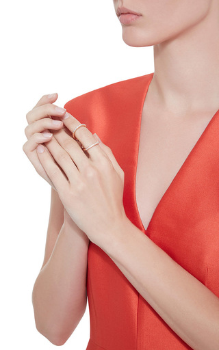 Rose Gold Pavé Infinity Ring by FALLON Now Available on Moda Operandi