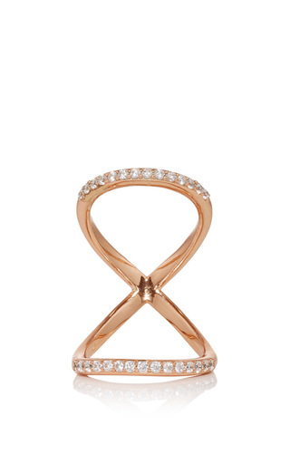 Medium fallon rose gold rose gold pave infinity ring