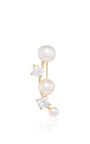 Olivia Pearl And Cubic Zirconia Vine Ear Cuff by FALLON Now Available on Moda Operandi