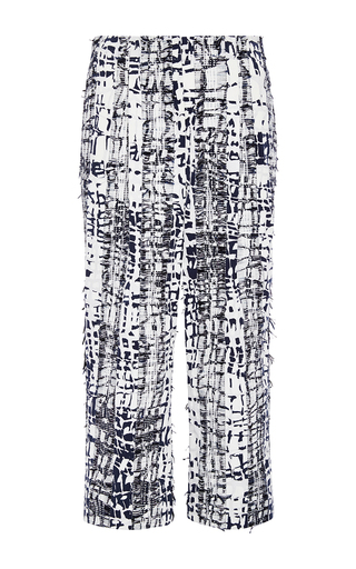 Cotton Printed Cropped Pants by PRABAL GURUNG Now Available on Moda Operandi