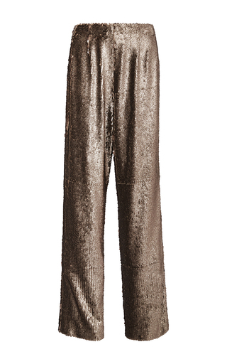 Metallic Sequined Relaxed Fit Pants by PRABAL GURUNG Now Available on Moda Operandi