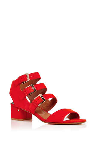 Klio Red Calf Leather Sandals  by LAURENCE DACADE Now Available on Moda Operandi