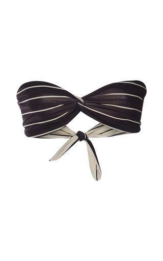 Medium solid striped multi the grace striped bandeau bikini top