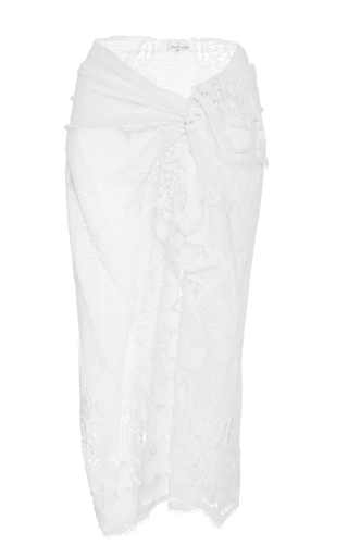 Medium miguelina white white cotton layna scallop lace sarong