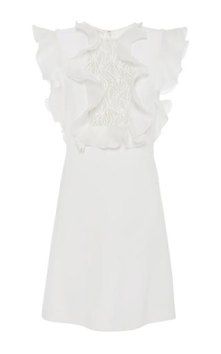Medium giambattista valli ivory ruffle bodice mini dress