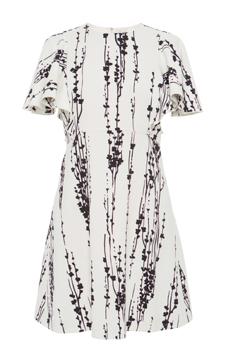Medium giambattista valli white short sleeve patterned mini dress