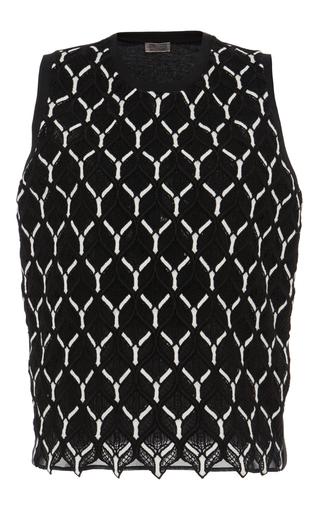 Cotton Macramé Sleeveless Blouse by GIAMBATTISTA VALLI Now Available on Moda Operandi