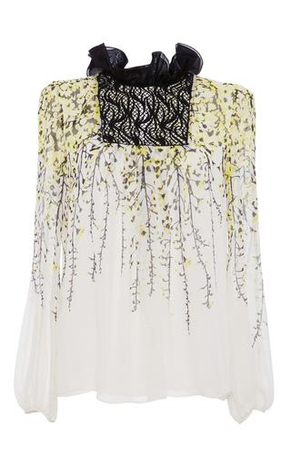 Medium giambattista valli white long sleeve peasant blouse