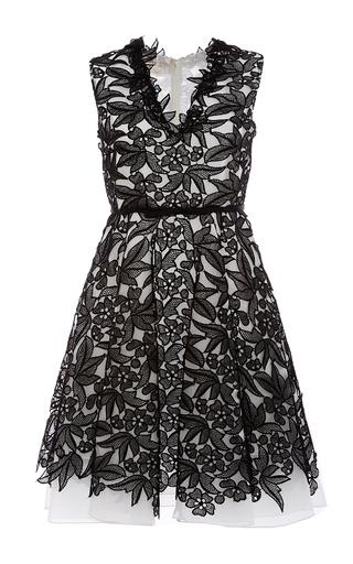 Medium giambattista valli black sleeveless a line dress