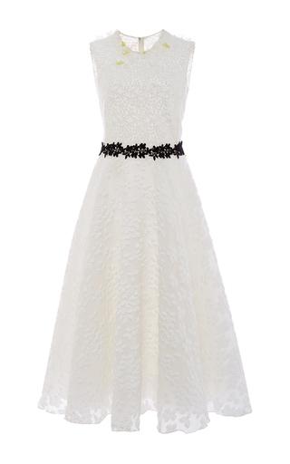 Medium giambattista valli white jacquard floating flowers dress