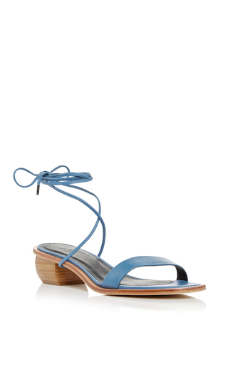 Medium tibi light blue blue astrid sandals with removable strap