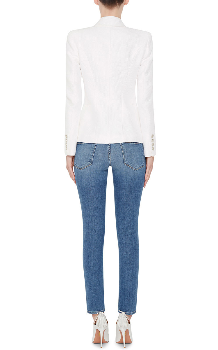 Le Skinny De Jeanne Jeans With Distressed Knees By Moda