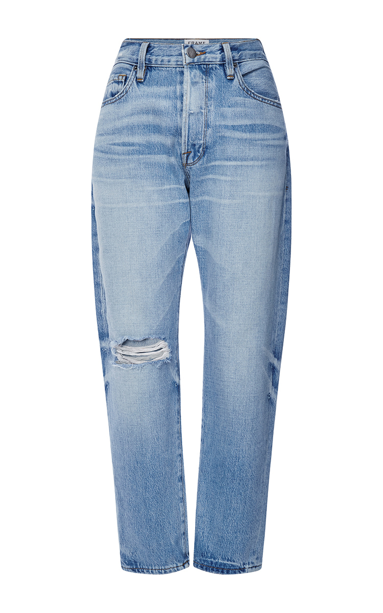 Le Original High Rise Distressed Boyfriend Jeans by Frame Denim ...