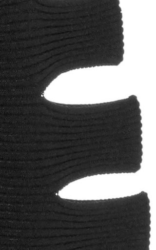Black Slashed Ribbed Crop Top by CUSHNIE ET OCHS Now Available on Moda Operandi