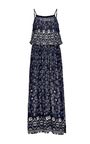 Bandana Border Print Pintucked Slipdress by SEA Now Available on Moda Operandi