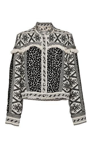 Medium sea tan crosstitch and leopard jacket