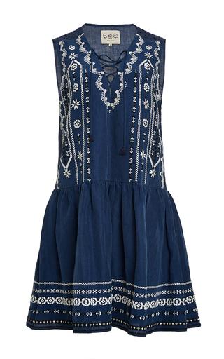 Lace Up Combo Tank Dress by SEA Now Available on Moda Operandi